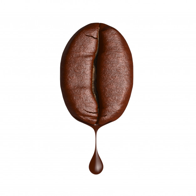 A coffee bean dripping.